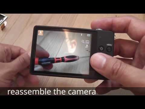 How to fix a broken digital camera display