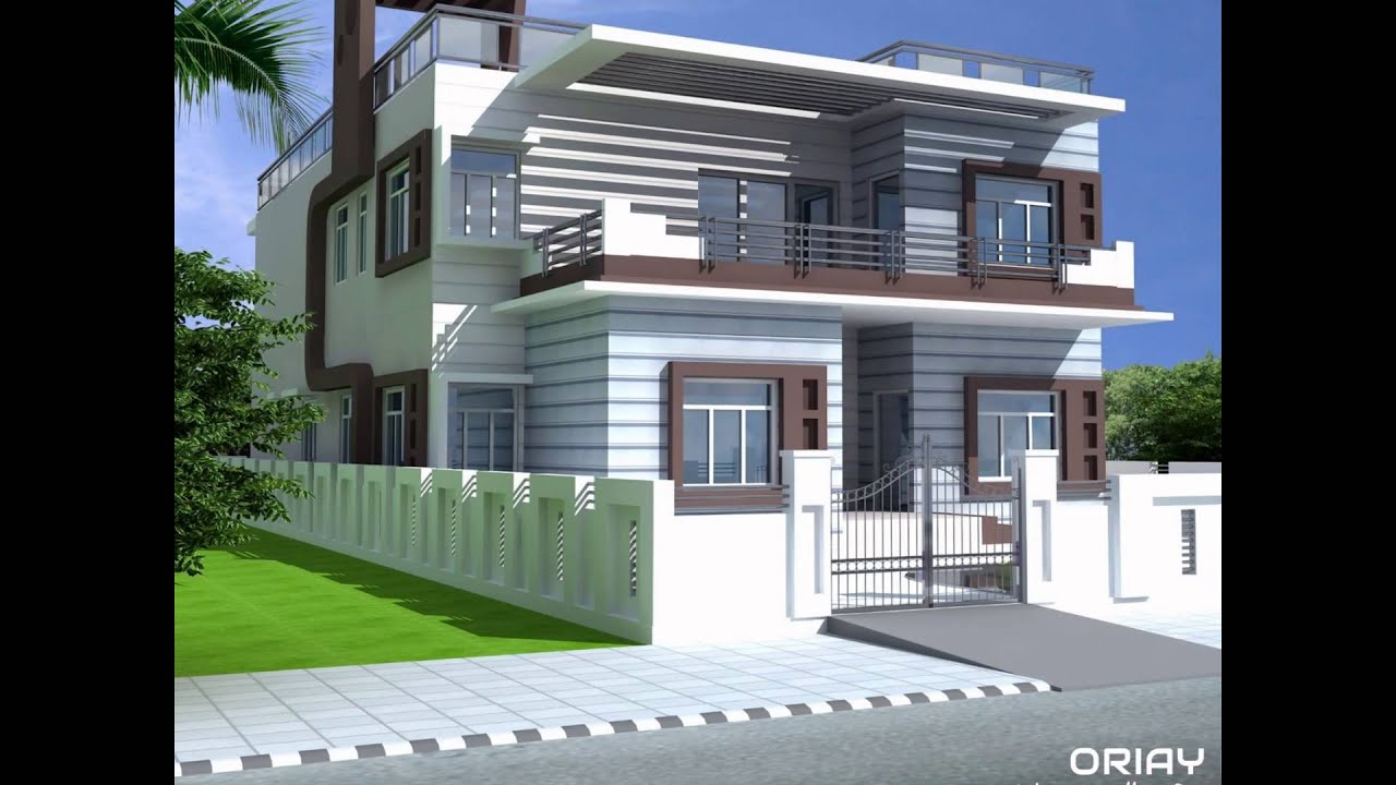 Sample Front Elevation Models : Duplex residential home design by oriay bd youtube