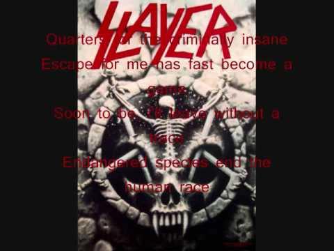 Slayer - Criminally Insane w/ lyrics