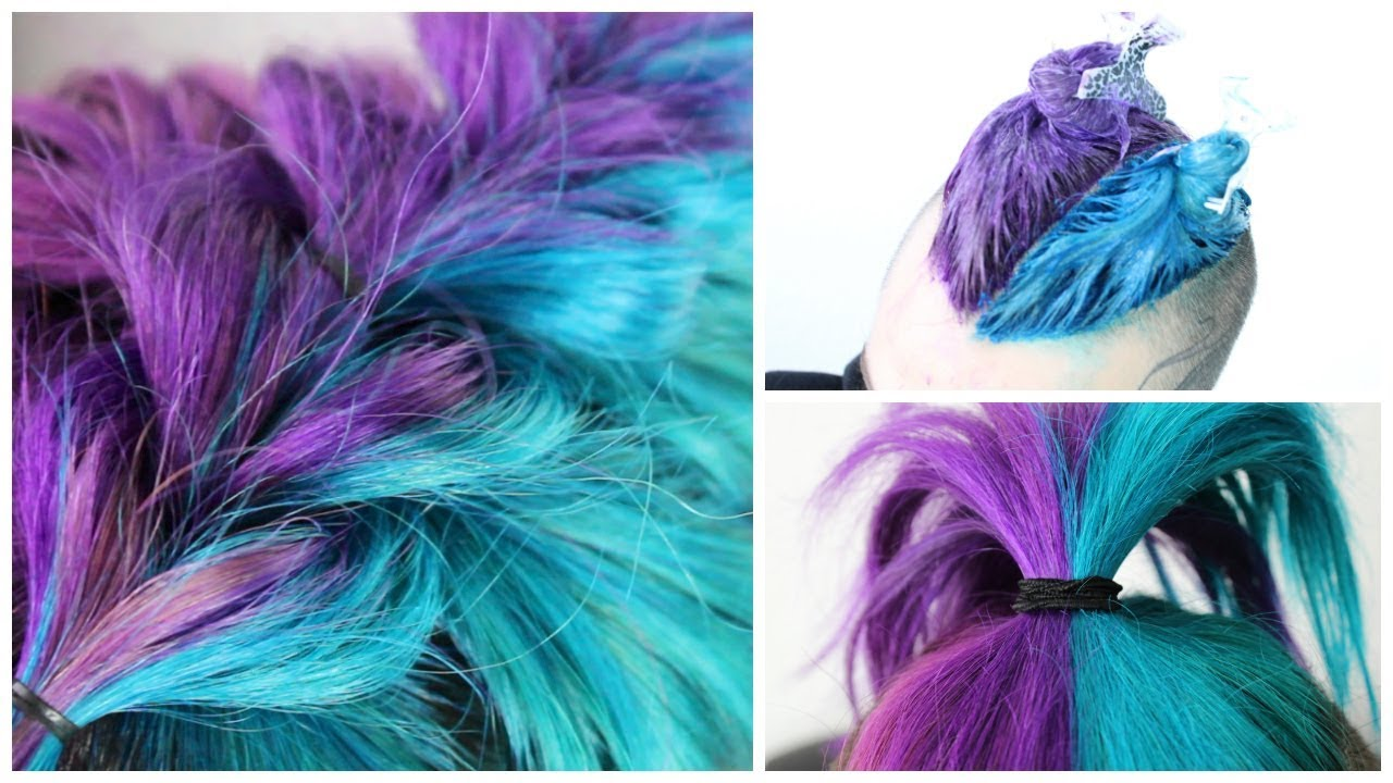 blue purple hair diy