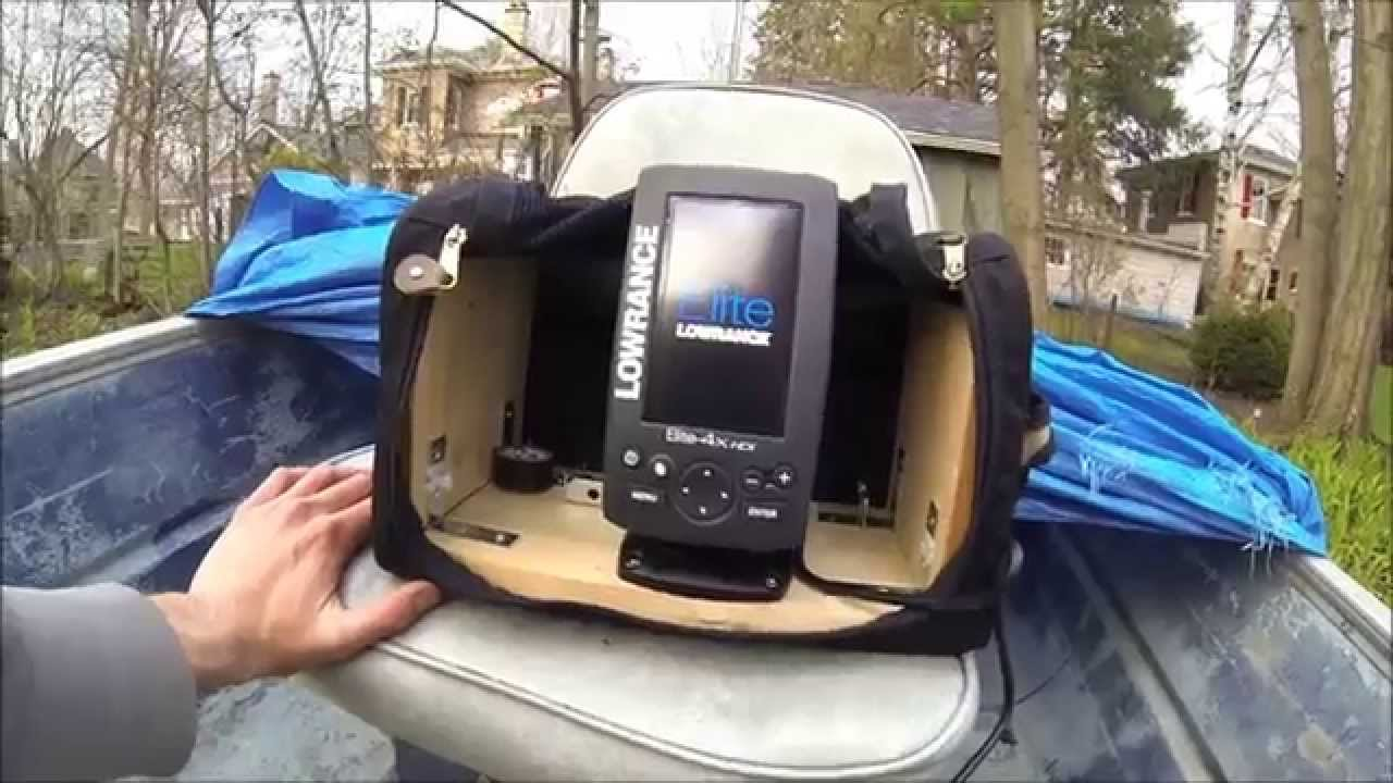 portable fish finder setup with lowrance elite 4x hdi - youtube, Fish Finder