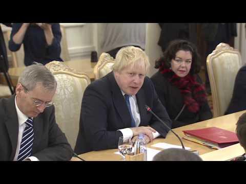 Встреча Сергея Лаврова с Борисом Джонсоном