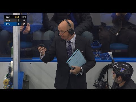 Darren Pang shows off his reflexes between the benches