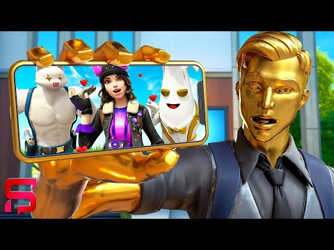 JEALOUS MIDAS STALKS SHADOW SKYE.... ( Fortnite Film )
