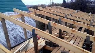 видео Как построить сарай своими руками с односкатной крышей поэтапно, чертеж