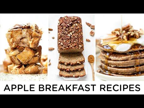 APPLE BREAKFAST RECIPES ‣‣ 3 easy & healthy breakfast ideas