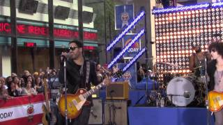 Lenny Kravitz performs American Woman  - on today show