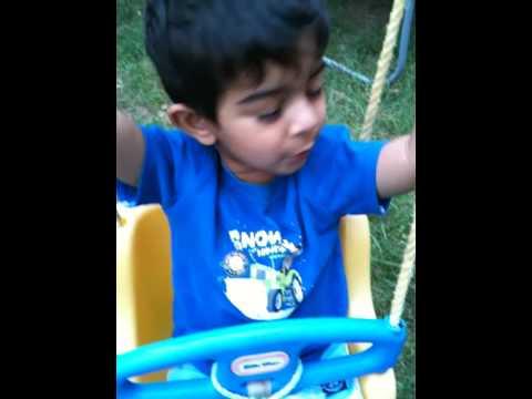 Ritik tries to whistle.