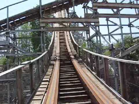 "Riding ""The Rattler"" at Six Flags Fiesta Texas"
