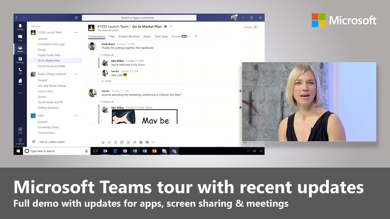 Microsoft Teams full tutorial with recent updates (2018)