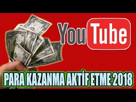 Youtube Para Kazanma Aktiflestirme Nasil Yapilir 2018