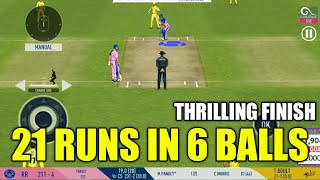 🔥BOULT JUST SAVE THE MATCH   RR NEED 21 RUNS IN 6 BALLS   THRILLING FINISH IN REAL CRICKET 19
