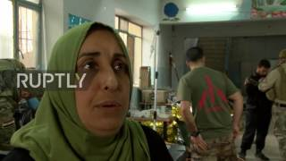 Iraq  Family arrive at field hospital in west Mosul after escape from the fighting