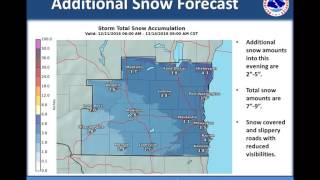 Morning Winter Storm Update For Southern Wisconsin - December 11, 2016