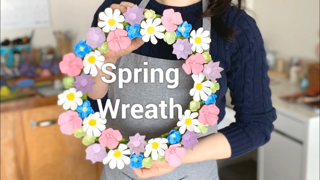 Spring Wreath - with recycle materials