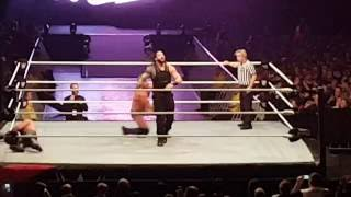 ending of chris jericho seth rollins vs finn blor roamn reigns melbourne 11 08 16