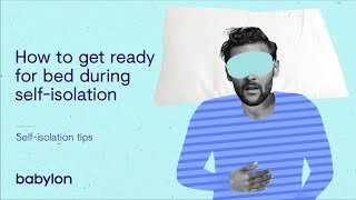 Coronavirus mental health tips | Getting ready for bed