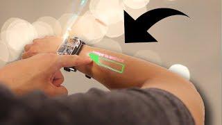 ساعة ذكية تحول ذراعك الى شاشة ونظارة بمواصفات خارقة من ابل !