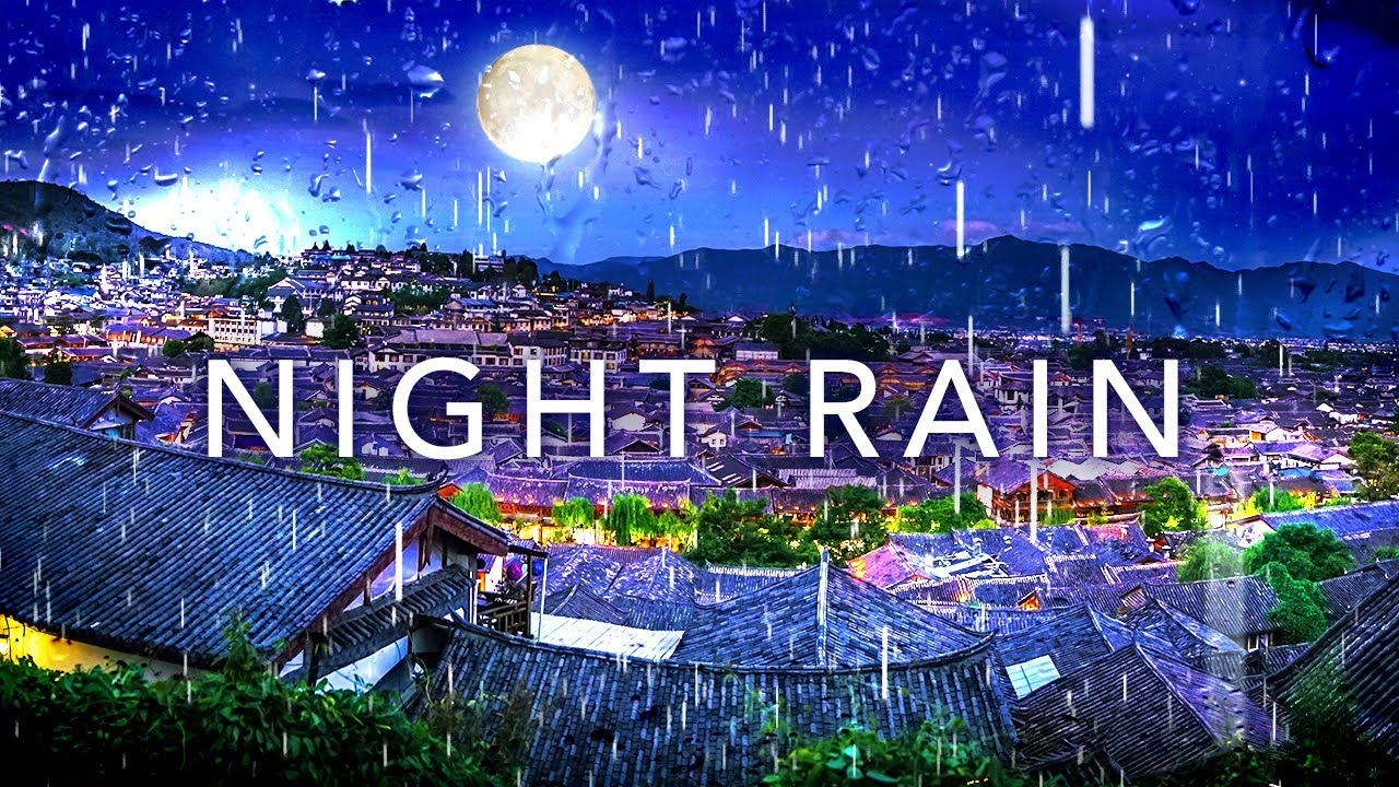 Relaxing Rain and Thunder Sounds, Night Rain 12 Hours Rainfall with Gentle Thunder for Sleep