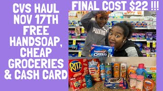 23 items for $22!  Free Hand Soap, Cheap Groceries! \u0026 More| CVS Extreme