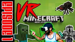 MINECRAFT VR EDITION | MINECRAFT VIDEO GAME PLAY (EPISODE 1) THE AWESOME ADVENTURE STARTS HERE!