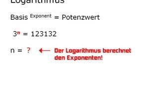 Mathe-Video: Logarithmus einfach erklärt ... Einführung zum Rechnen mit LOG