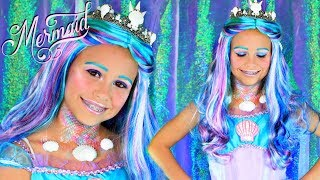 Mermaid Halloween Makeup and Costume For Kids!