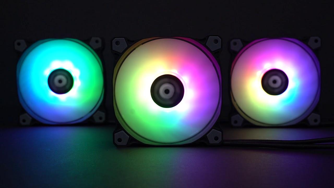 3 x 120mm Thermaltake Pure 12 ARGB Sync Radiator Fan with