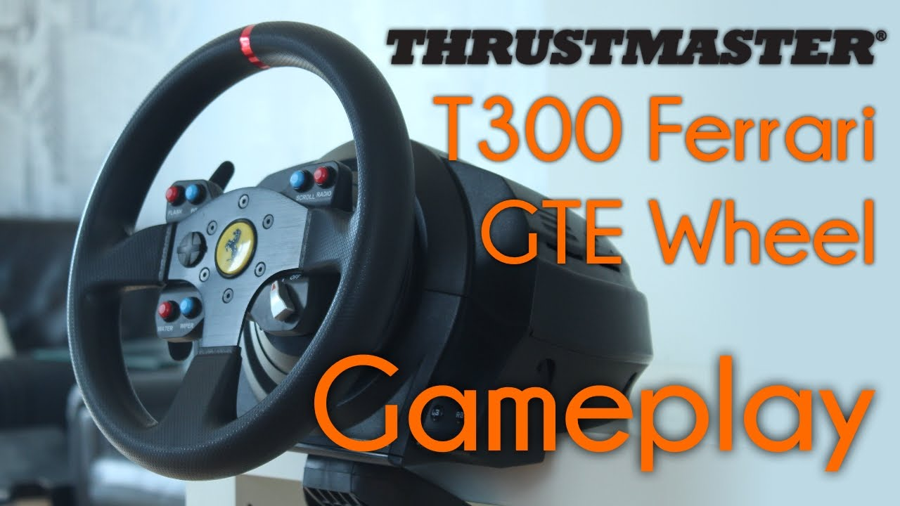 thrustmaster t300 ferrari gte wheel gameplay techfire. Black Bedroom Furniture Sets. Home Design Ideas