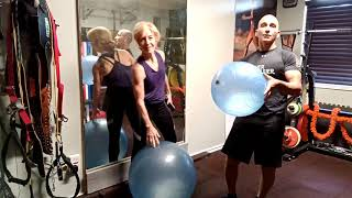 Swiss Ball Leg Workout