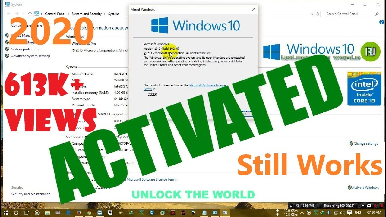 How to activate windows 10 8 81 7 all version youtube how to activate windows 10 8 81 7 all version ccuart Gallery
