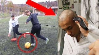 Fussball challenge vs profi gareth walker + glatzen bestrafung!!!!