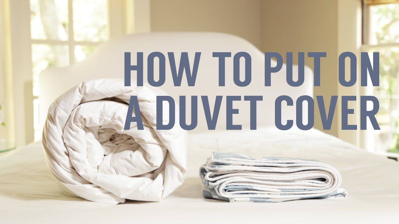 how to put on a duvet cover in seconds youtube