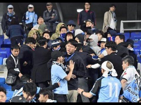 水原サポによる川崎応援スタンド乱入事件の一部始終 覆面の十数人が恫喝、あわや乱闘寸前...川崎側の冷静な対応で事なきを得る