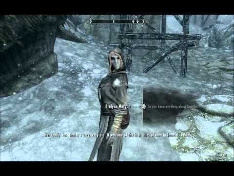 Brelyna Maryon doesn't want to talk about it, and we get introduced. (Skyrim)