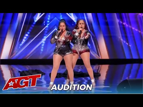 Double Dragon Sexy Latina Twins Duo From Peru Save The Day On America S Got Talent Youtube