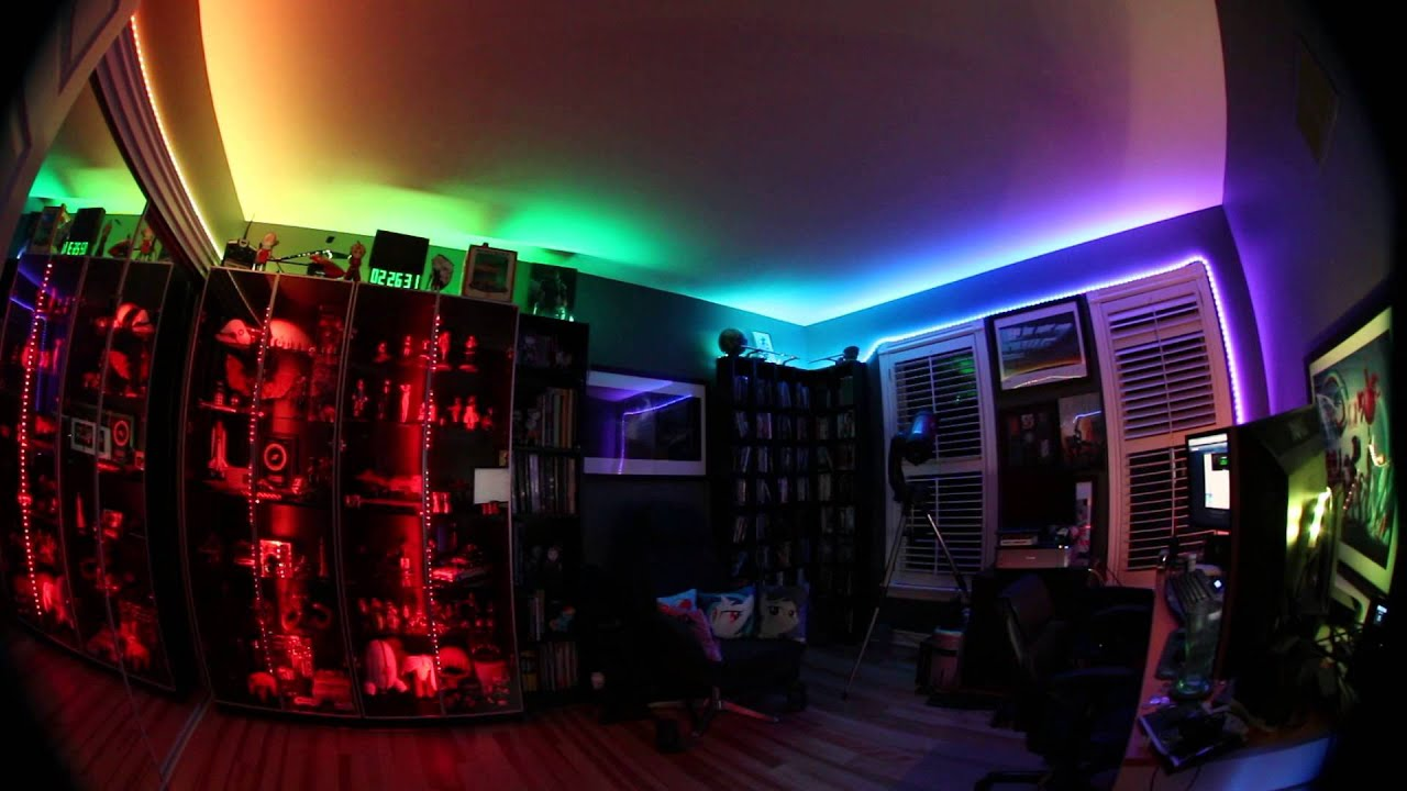 LED Lights in my Room - YouTube