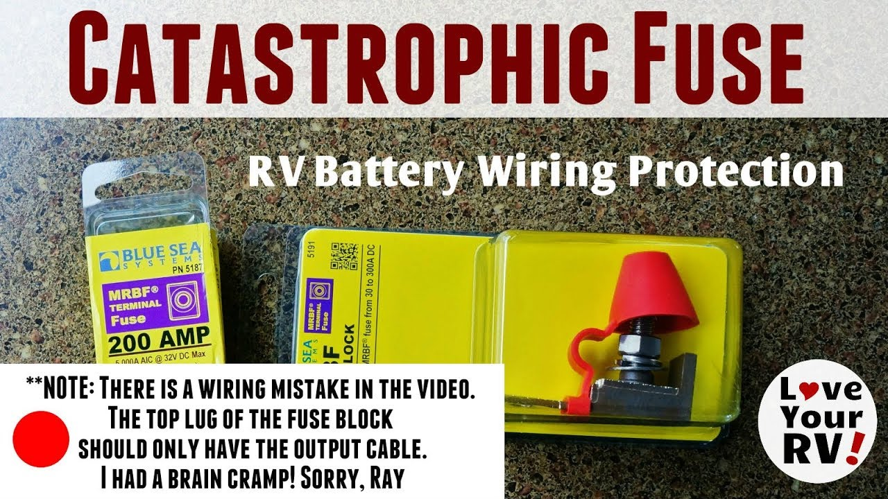 Installed a Catastrophic Fuse on My RV Battery Bank on dc controller box, dc relay box, contactor box, dc switches box, dc switch box, dc power box, dc circuit breaker box, dc wiring box, dc panel box,