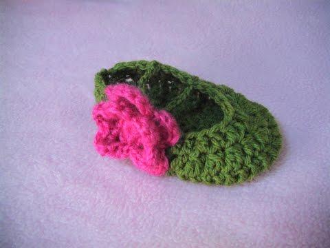 Πλεκτες Μπαλαρινες (μερος 1ο) / Mary Janes Crochet Tutorial (part 1)