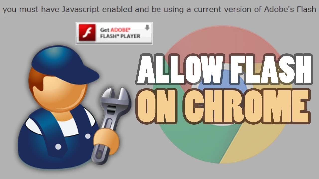 How to enable adobe flash player in google chrome.