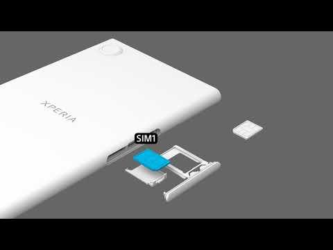 Insert two SIM cards – Xperia XZ1 Dual SIM