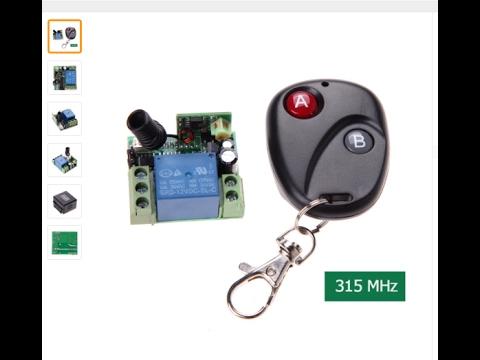 Uhppote AC//DC12 48/V 2-CH 433/MHz RF Remote Control commutateur Relais Transceiver 2-buttons