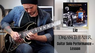 Dream Theater - Lie Guitar Solo Cover + Lesson by Rod Rodrigues