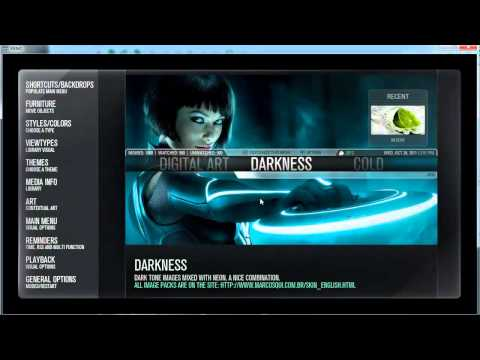 Configure Extrapacks Themes And Weather Skin Aeonmq.3 - Xbmc