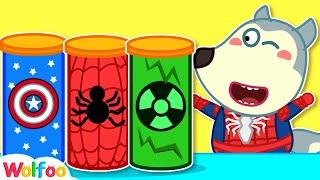 Wolfoo Pretend Play Spiderman with Magic Chips | Wolfoo Family Kids Cartoon