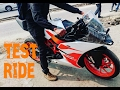 Test Ride of the new KTM RC 200 / Exhaust sound