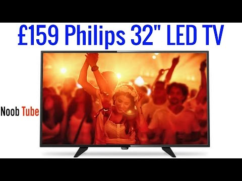 """£159 Unboxing 32"""" Philips LED TV HD Ready Freeview Tuner Built In 32PHH4101 (2 x HDMI 1 x Scart) LCD"""