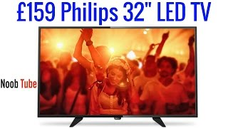 unboxing 159 32 philips led tv hd ready freeview tuner built in 32phh4101 2 x hdmi 1 x scart lcd