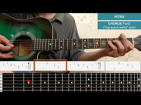 Mad World - Gary Jules - Guitar Lesson