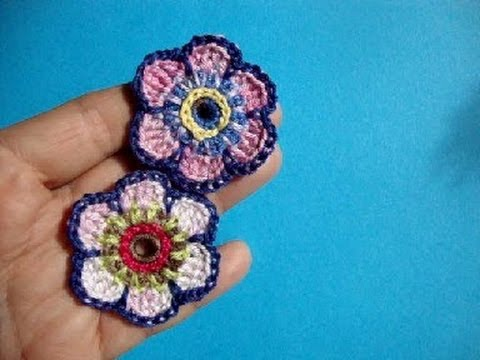 Crochet Flowers Patterns Youtube : Crochet flower pattern, ????? ??????? ??????? 62 ...